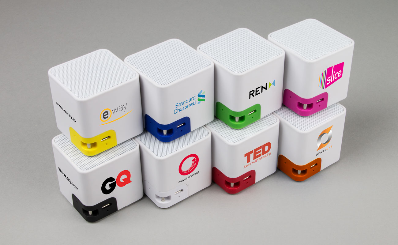 Cube - promotional bluetooth speaker