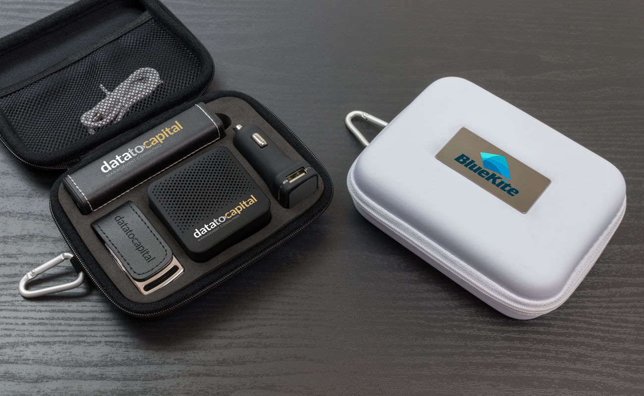 Leather L - Custom USB, power bank branded, custom car chargers and promotional bluetooth speaker